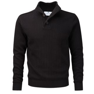 Charles Wilson Mens Cotton Button Neck Sweater DD BN01