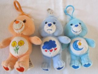 TCFC Care Bears Friend Bear Grumpy Bedtime Bear Key Chain Plushes 5