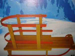 Baby Child Toddler Kids Flyer Snow Wooden Wood Sleigh Sled Brand New