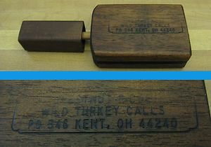 Vintage Chestnut Ridge Broad Caster Turkey Call