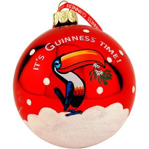 Guinness Toucan Christmas Bulb Tree Ornament Beer Lovers Holiday