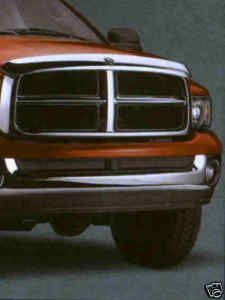 02 05 Dodge RAM Chrome Air Deflector Bug Shield