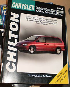 CARAVAN,PLYMOUTH VOYAGER,CHRYSLER TOWN & COUNTRY 1996 99 REPAIR MANUAL