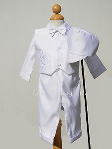 Infant Boys Christening Baptism Outfit Suit 18 Months Dove with Cross
