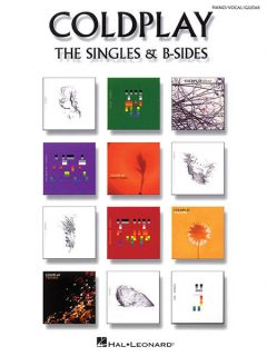 Coldplay Singles B Sides Piano Sheet Music Guitar Chords 38 Songs Book