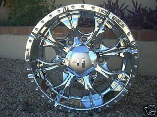 16 Inch CHROME WHEELS Rims Chevy Dodge RAM 8 Lug Truck NEW Helo Maxx
