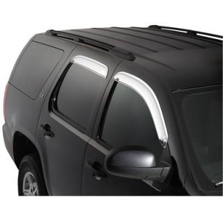 Auto Ventshade Chrome Window Ventvisors Front and Rear Set of 4