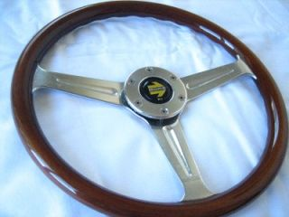 Momo Wood Steering Wheel Alfa Chevy Lancia TR6 Fiat MGB