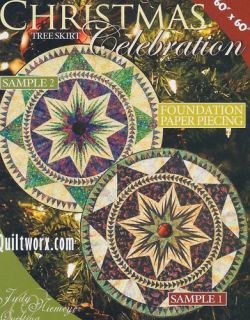 Christmas Celebration Tree Skirt Paper Piecing Pattern