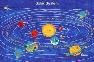 Solar System 7x10 Area Rug Carpet Play Mat Great for Classroom