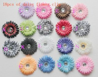 Wholesale Colorful Daisy Flower Clip Crochet Girls Baby Lady Headband