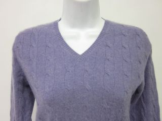 you are bidding on a christopher fischer cashmere cable knit sweater