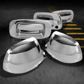 99 06 Silverado 2dr Chrome Door Handle Mirror Covers Tailgate Cover