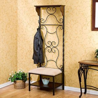Entry Hallway Hall Tree Bench Coat Hat Shoe Rack Storage New