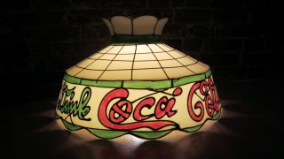 Coca Cola Plastic Chandelier Pool Table Ceiling Light Working Used