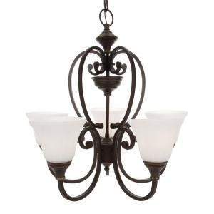 Hampton Bay Somerset Collection Bronze 5 Light Chandelier