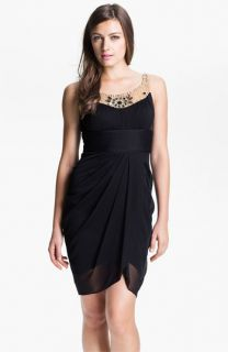 Adrianna Papell Jeweled Yoke Cocktail Dress