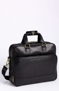 Bosca Top Zip Leather Briefcase