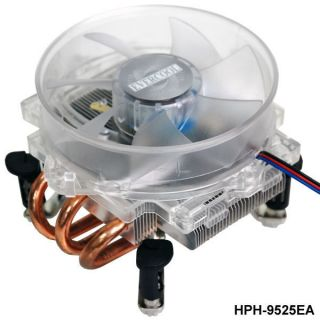 EverCool Blue LED Fan CPU Cooler HPH 9525ea for Intel P4 Core2