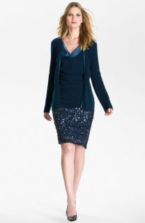 St. John Collection Sequin Pencil Skirt