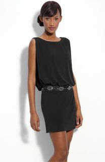 Laundry by Shelli Segal Jersey Blouson Dress with Back Keyhole