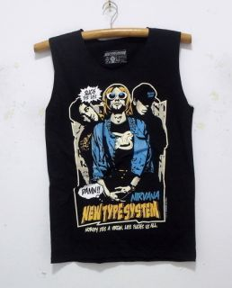 Nirvana Kurt Cobain singlet tank top shirt vintage puk rock band tour
