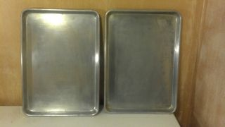 BAKER CHEF SHEET PANS HALF SIZE ALUMINUM COMMERCIAL USED FOR BAKING