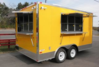 New 8.5 x 14 Concession food trailer with two concession windows