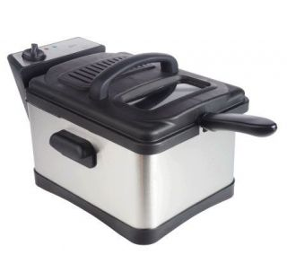 Deni 4.5 qt Stainless Steel Non Stick Deep Fryer —