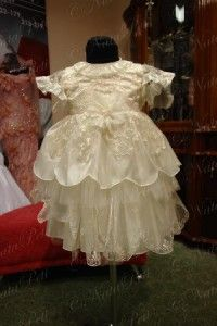 Flower Girl Pageant Party Holiday Dress 2951 Beige Size 2