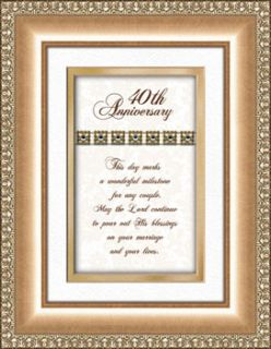 40th Wedding Anniversary Gift Framed Verse Picture Print Heartfelt