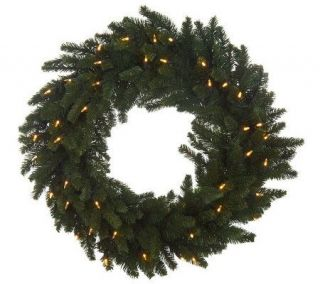 Bethlehem Lights Plug In 30 Wreath with LED Mini Lights —