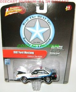 87 FORD MUSTANG FOX BODY WASKOM POLICE COP CAR JOHNNY 2.0 2011 DIECAST