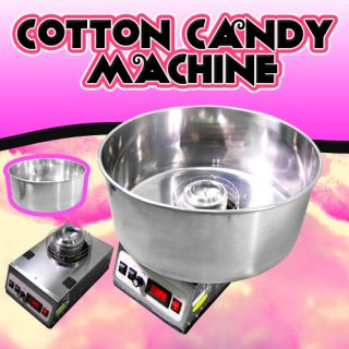 Electric Cotton Candy Machine Commercial Floss Maker 110V 60Hz US Free