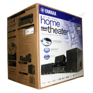 yamaha yht 497bl complete 5 1 channel home theater system
