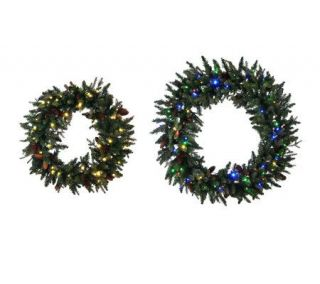 Bethlehem Lights Solutions Oversized Pinecone Wreath