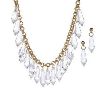 Isaac Mizrahi Live Beaded Drop Necklace & Earring Set —