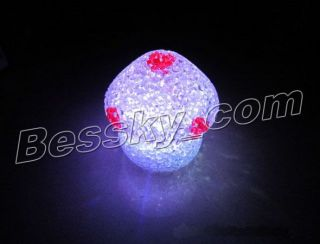 Hot Creative Fashion Shine Change 7 Color Crystal Mushrooms LED Night