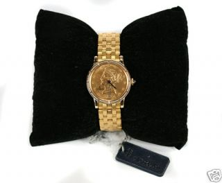 Corum $10 Coin 18kt Sold Yellow Gold Coin Ladies Watch