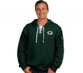 NFL Green Bay Packers Mens Big & Tall Lace Hooded Sweatshirt