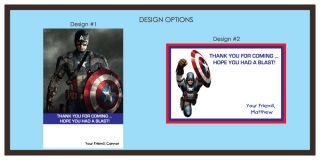 CAPTAIN AMERICA BIRTHDAY THANK YOU CARDS