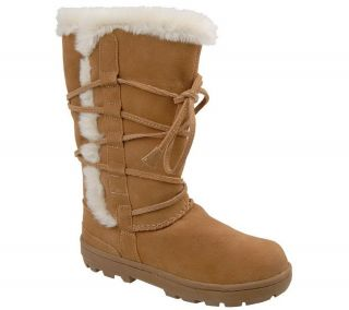 White Mountain Suede Faux Fur Lined Boots —