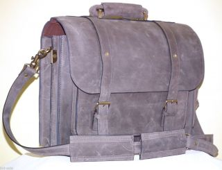 CRAZY HORSE LEATHER MESSENGER LAPTOP BAG SATCHEL HANDCRAFTED BACKPACK