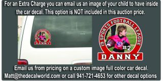 Custom Softball Fastpitch Vinyl Car Window Decal Girls