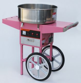 New 1050W Electric Cotton Candy Floss Machine Maker Cart 20 inch Big