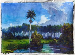 Yudinasay 15 Original Cuban Fine Art Oil Painting Cuba 16x23 Latin