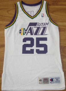 John Crotty Utah Jazz Game Used Worn Jersey Champion Virginia Vintage