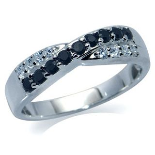 Cubic Zirconia CZ 925 Sterling Silver Criss Cross Ring