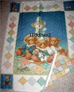 Mother GOOSE Pre Quilted Fabric Panel Daisy Kingdom Fabric Cherished