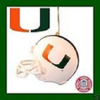 MIAMI UNIVERSITY OFFICIAL FOOTBALL HELMET XMAS TREE ORNAMENT STOCKING